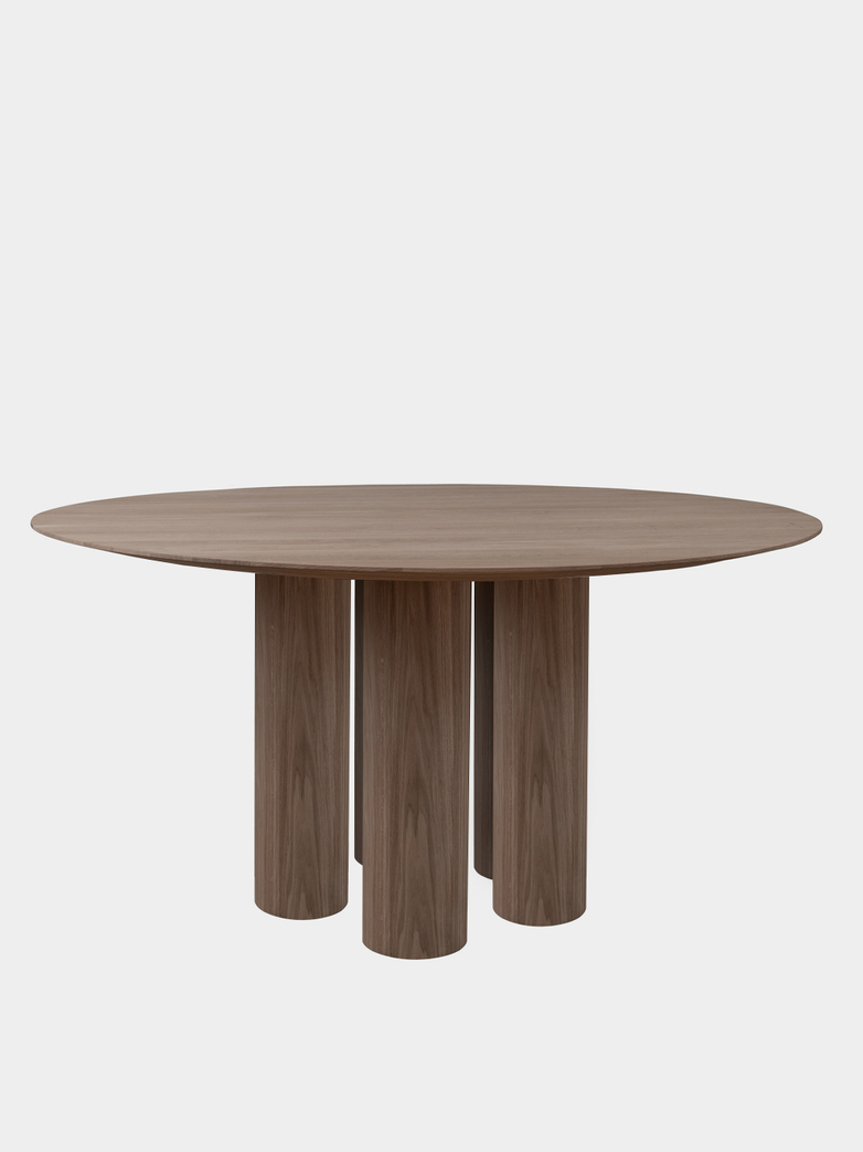 Hommage Grande Dining Table - Smoked Oak - Ø160