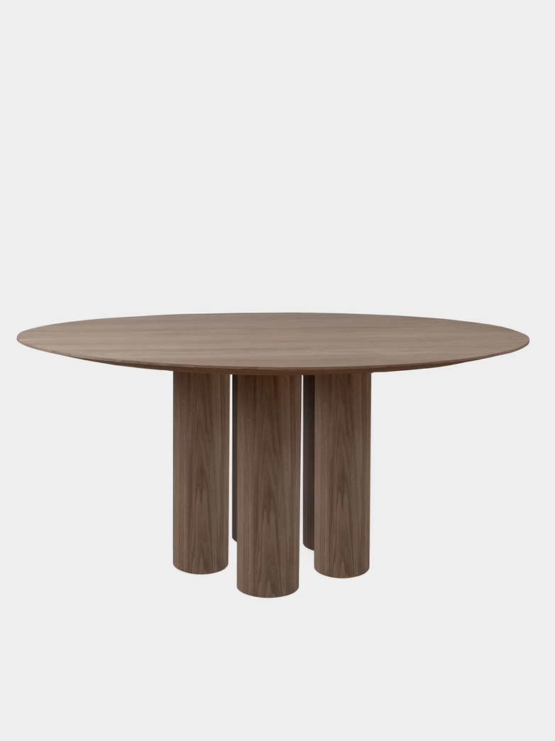 Hommage Grande Dining Table - Smoked Oak - Ø180 cm