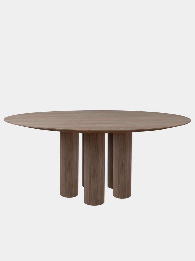 Hommage Grande Dining Table - Smoked Oak - Ø200 cm