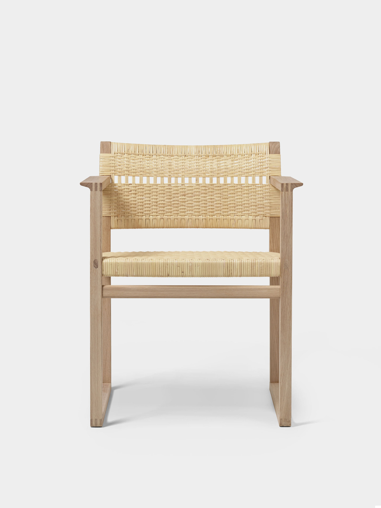 BM62 Armchair - Cane Wicker/Oiled Oak