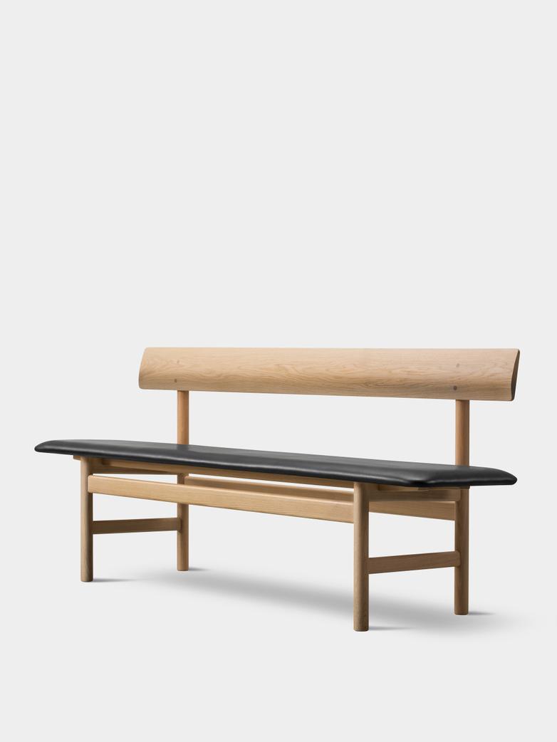 Mogensen Bench 3171 – Soaped Oak/Leather Black 301