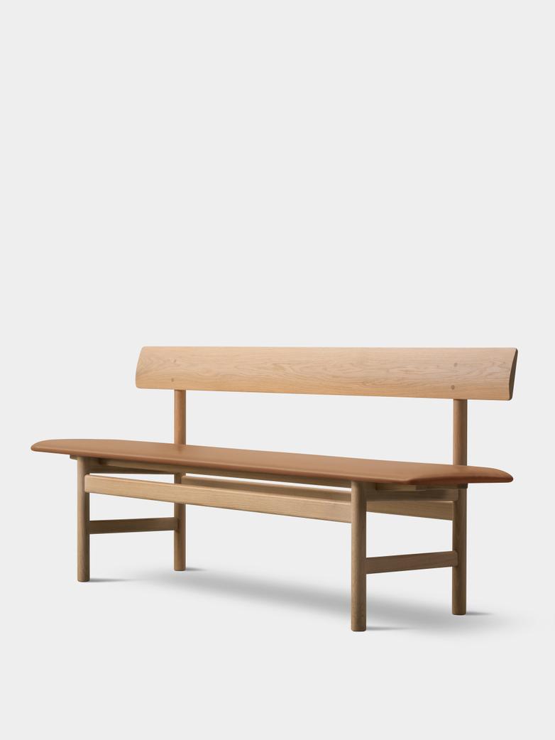 Mogensen Bench 3171 – Soaped Oak/Leather Cognac 307