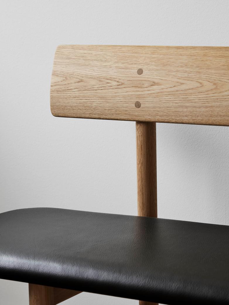 Mogensen Bench 3171 – Oak Light Oil/Leather Black 301