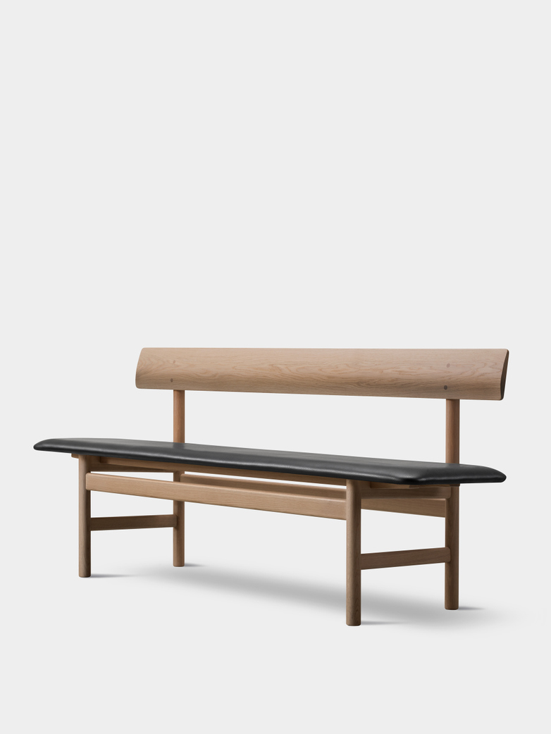 Mogensen Bench 3171 – Oak Light Oil/Leather Black 301