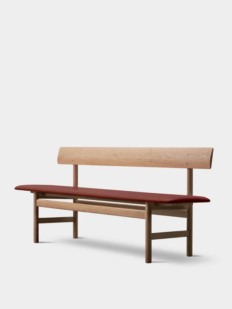 Mogensen Bench 3171 – Oak Light Oil/Leather Burnt Sienna 293