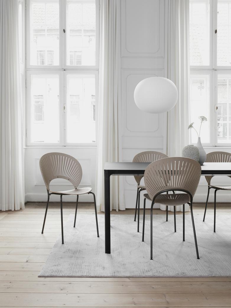 Trinidad Chair - Light grey oak stained/Flint