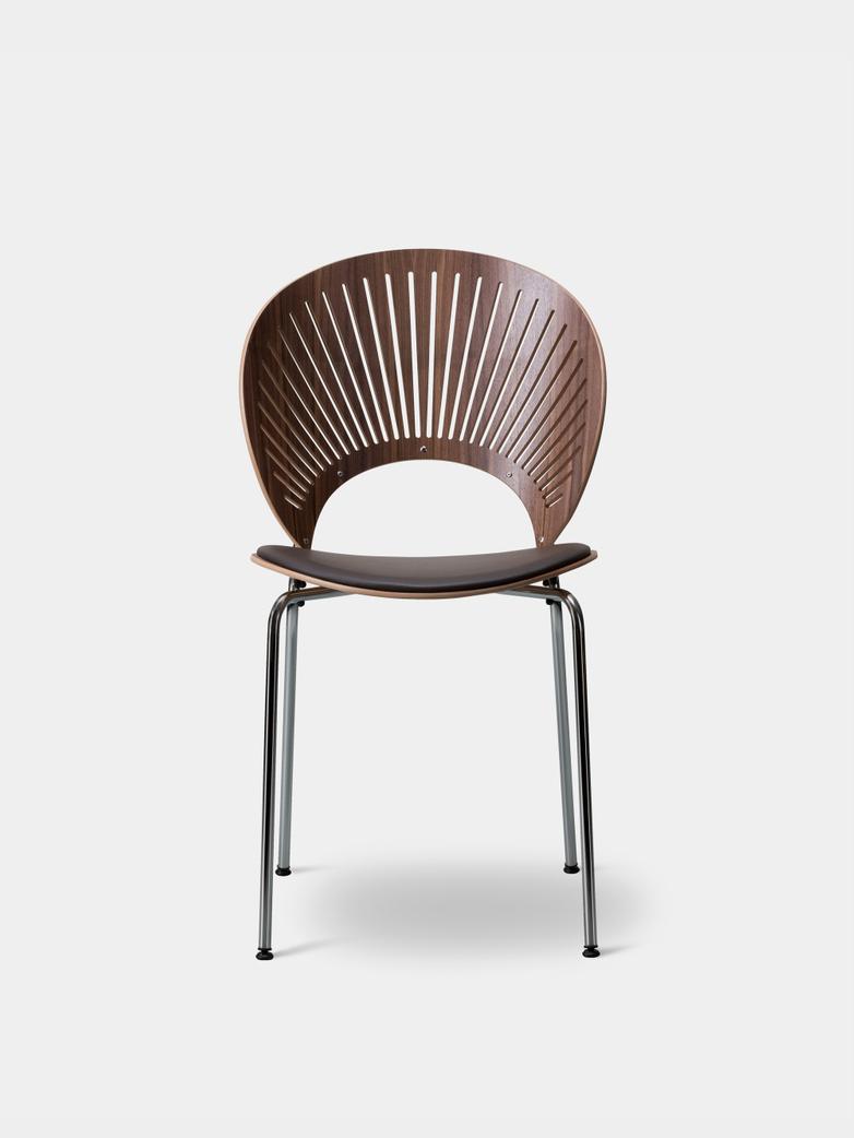 Trinidad Chair - Walnut, Leather 36/Chrome