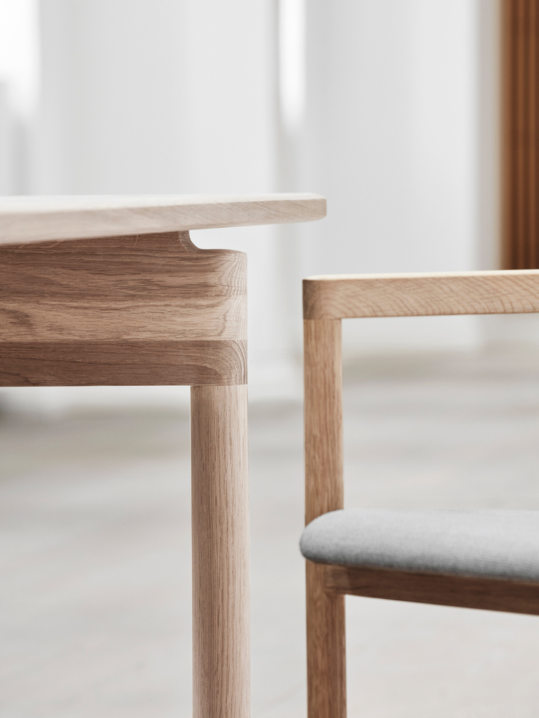 Post Table - Soaped Oak