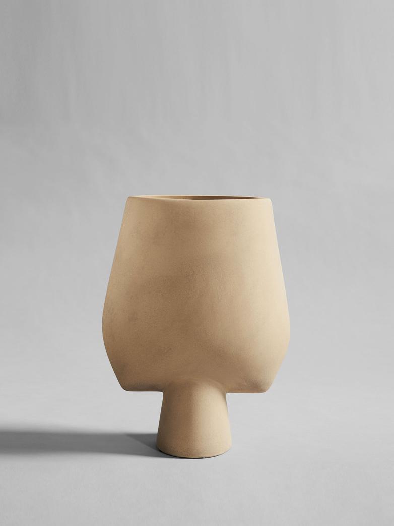 Sphere Vase Square Hexa – Sand