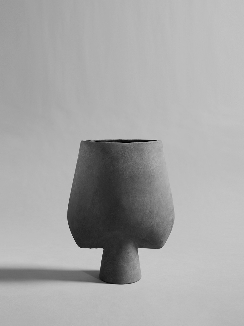Sphere Vase Square Big – Dark Grey