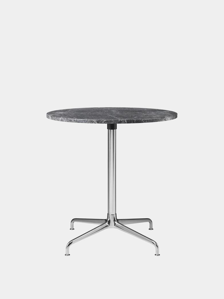 Beetle Dining Table 70 - Marble/Polished Aluminium Base