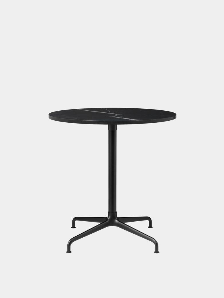 Beetle Dining Table 70 - Marble/Black Matt Base
