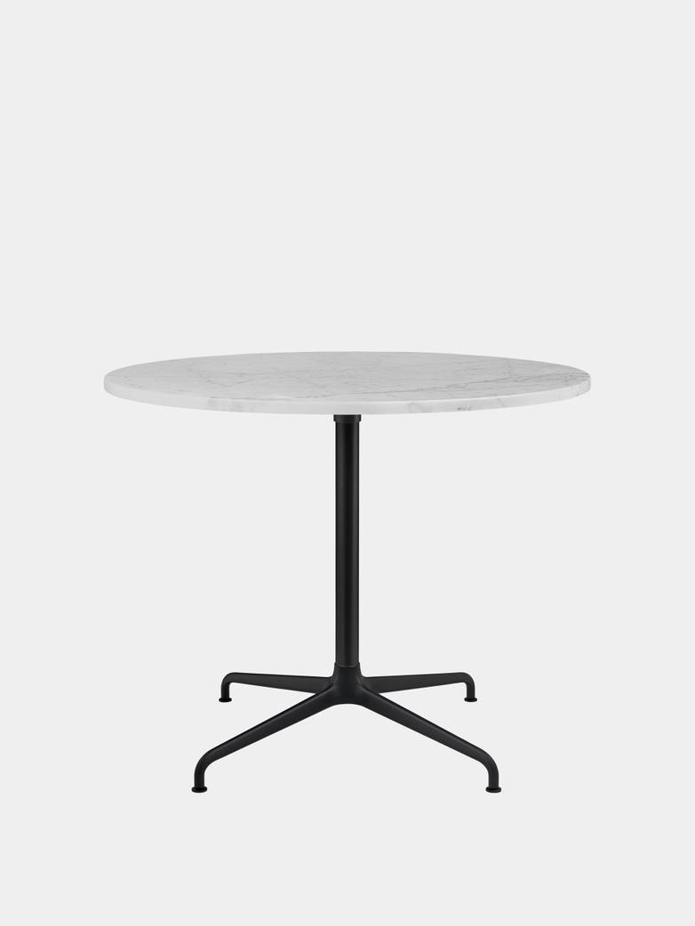 Beetle Dining Table 90 - Marble/Black Matt Base