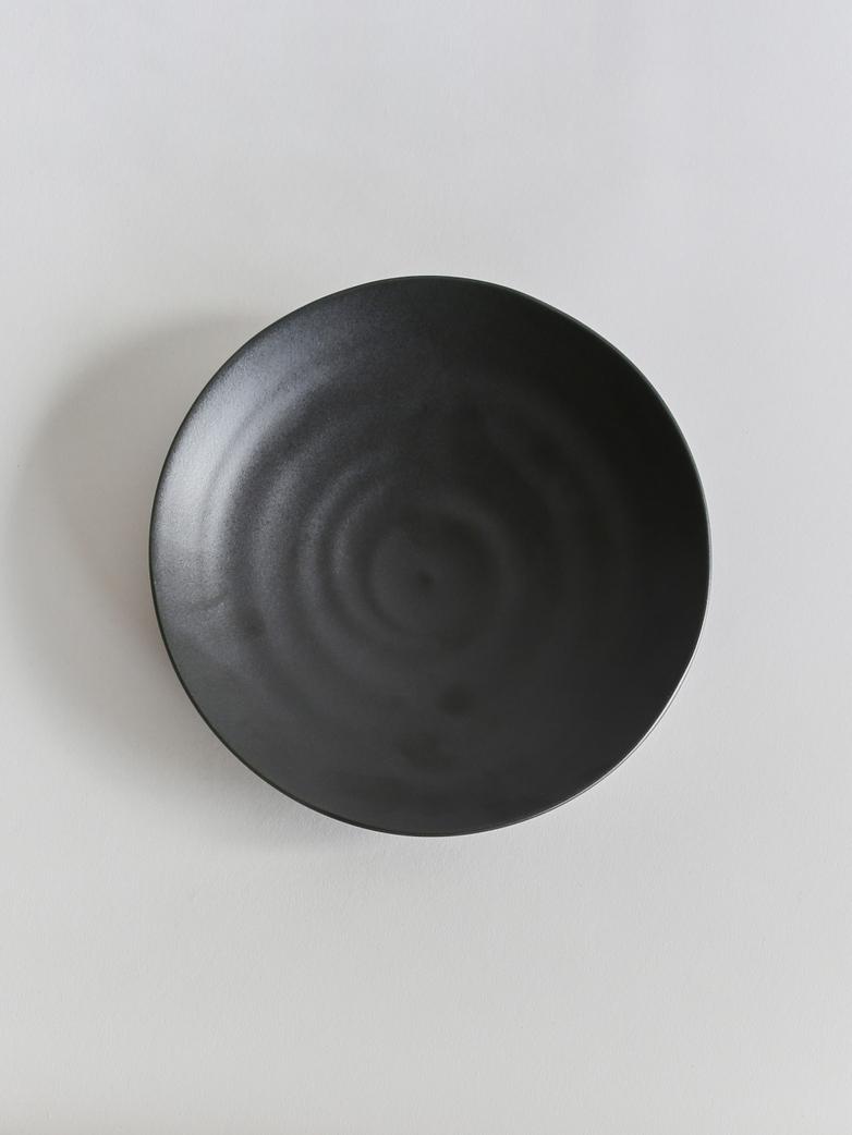 Kyoto Dessert Plate - Matt Black