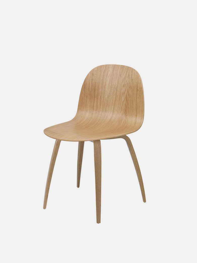 2D Dining Chair - Wood Base