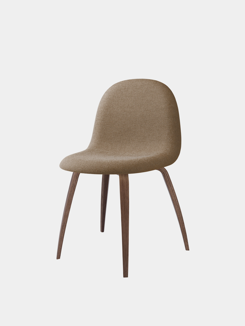 3D Dining Chair Upholstered - Wood Base