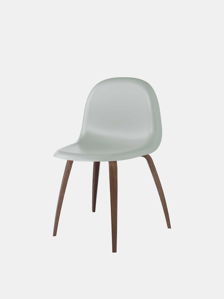 3D Dining Chair Un-Upholstered Hirek/Wood Base