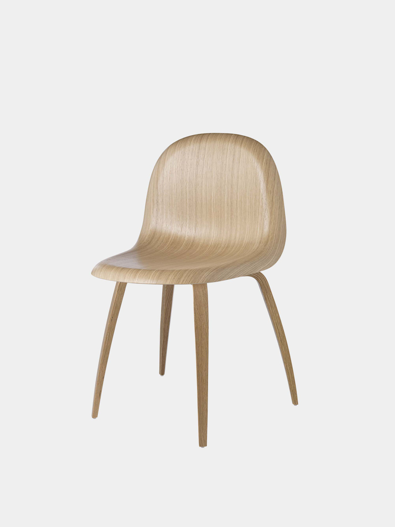 3D Dining Chair Un-Upholstered Wood/Wood Base