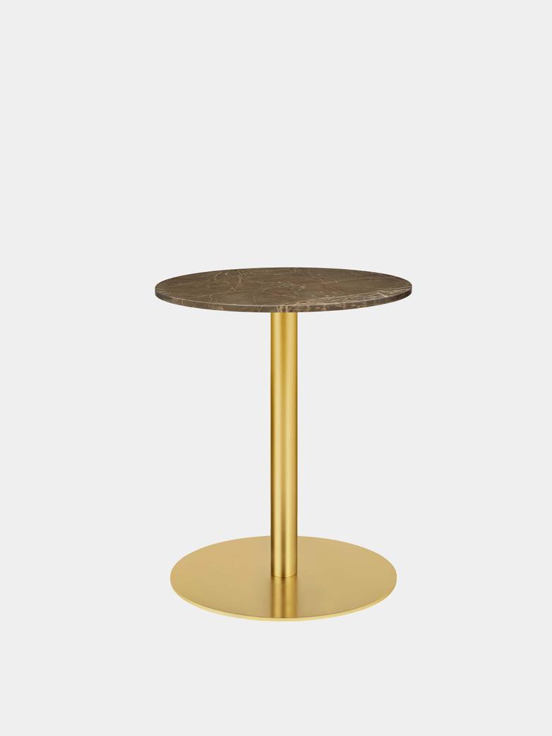 Gubi 1.0 Dining Table Round Ø60 - Brass Base