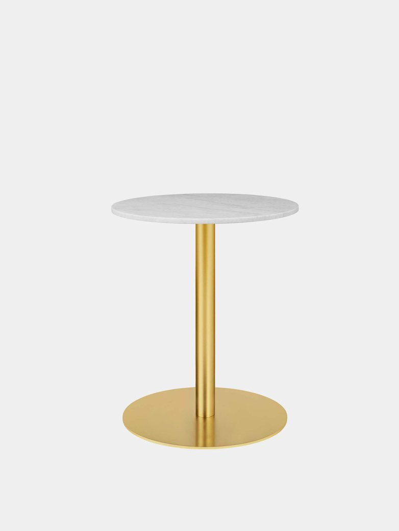 Gubi 1.0 Dining Table Round Ø60 - Brass Base
