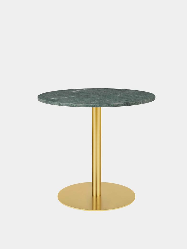 Gubi 1.0 Dining Table Round Ø80 - Brass Base