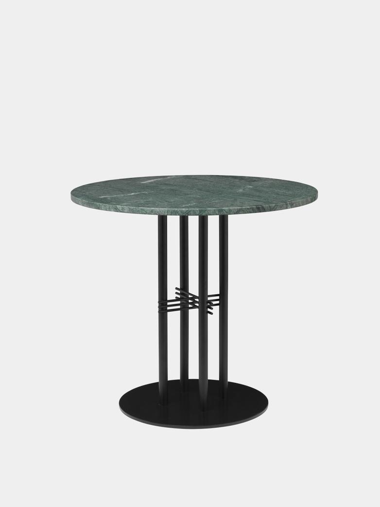 TS Column Dining Table Ø80 - Green Guatemala Marble/Black Base