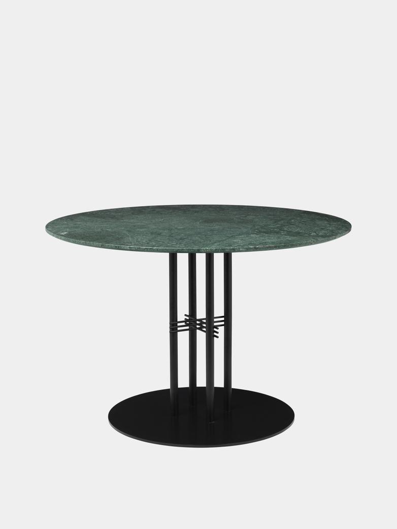 TS Column Dining Table Ø110 - Green Guatemala Marble/Black Base