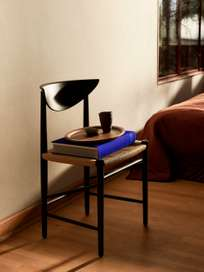 Drawn HM3 - Black Lacquered Oak with Natural Paper Cord