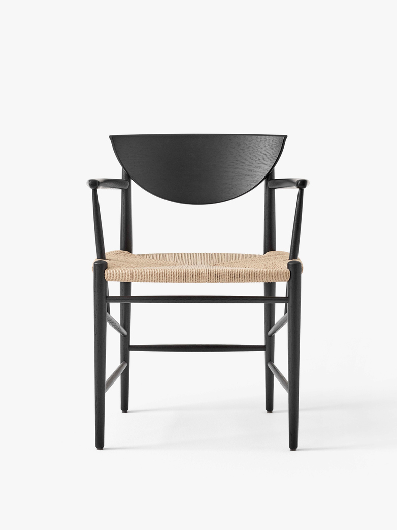 Drawn HM4 - Black Lacquered Oak with Natural Paper Cord