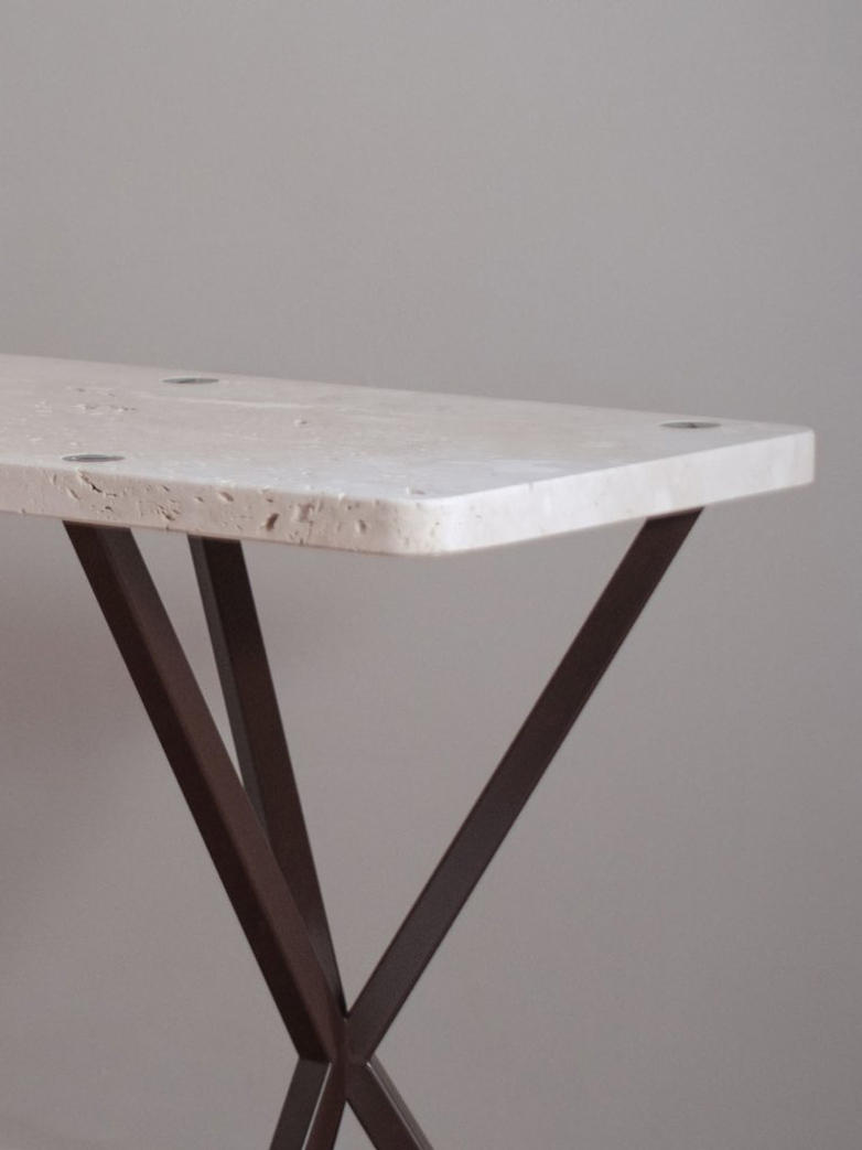NEB Console Table Travertine