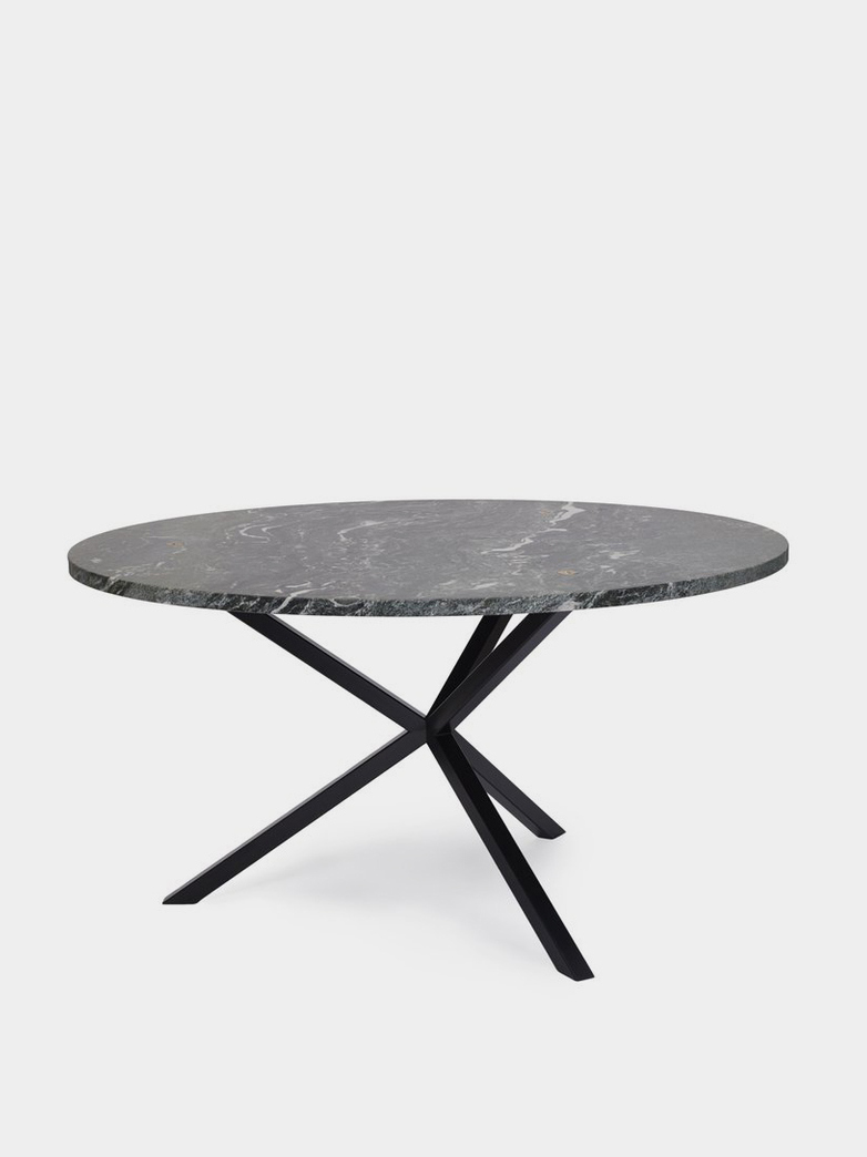 NEB Round Dining Table -  Verde Italia Granite