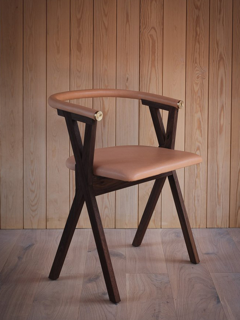 NEB Chair 03 - Walnut/Natural Leather