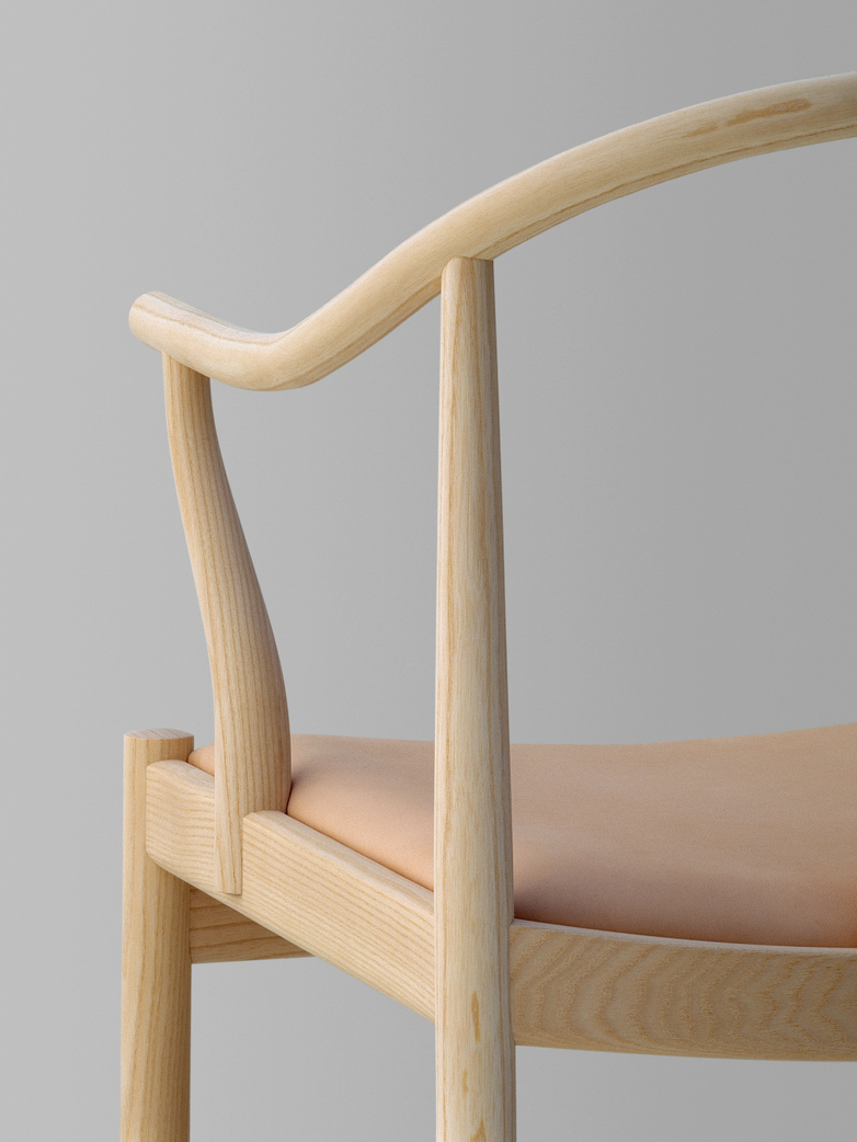 PP56 Chinese Chair - Soaptreated Ash - Natural Leather