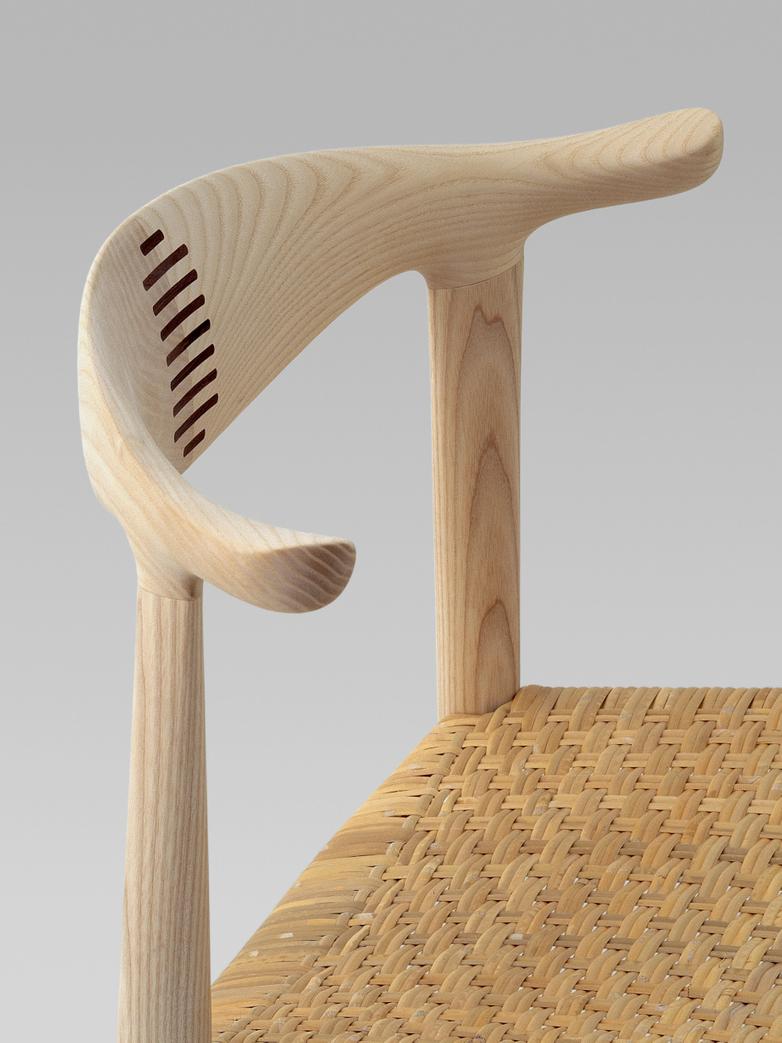 PP505 Cow Horn Chair - Cane