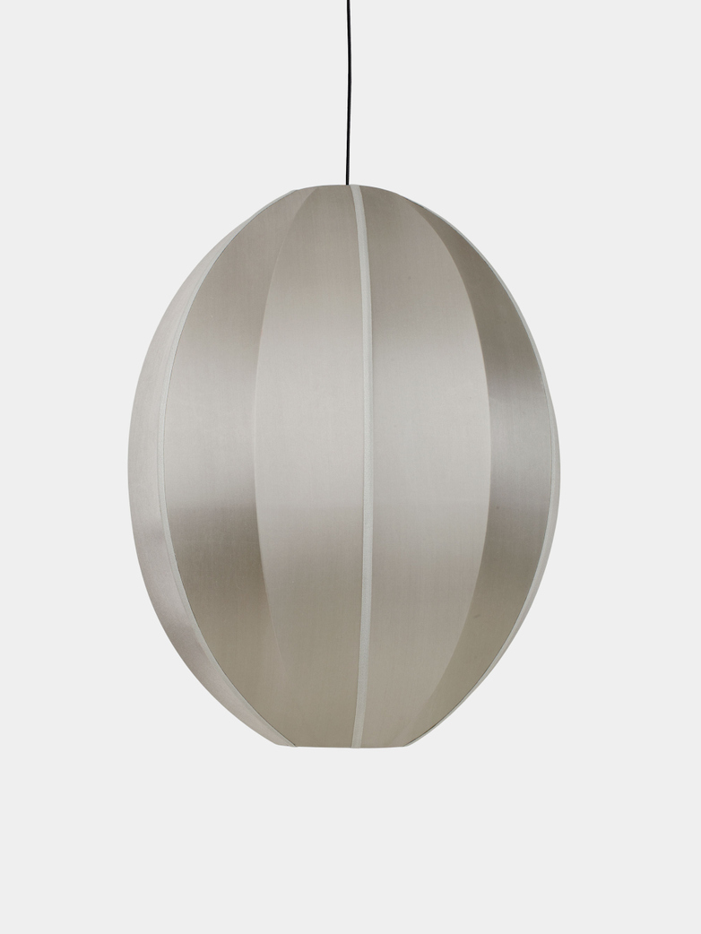 Bali Oval Silk Lamp - Grey