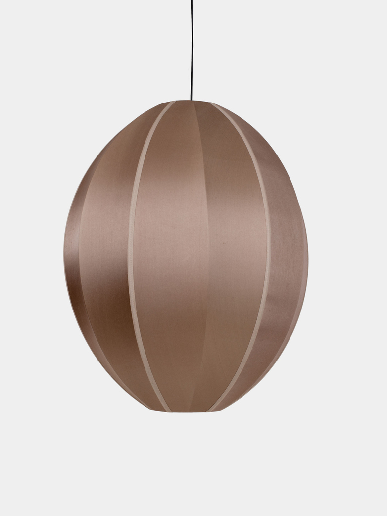 Bali Oval Silk Lamp - Rosebrown