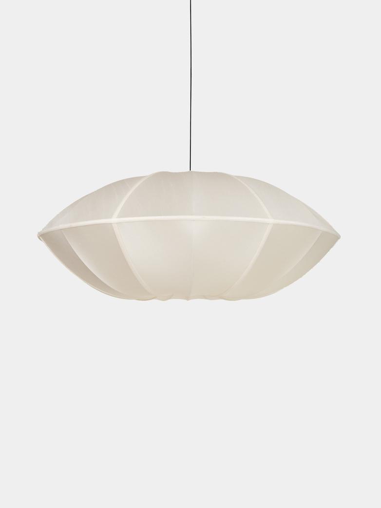 Bali Ufo Silk Lamp - Offwhite