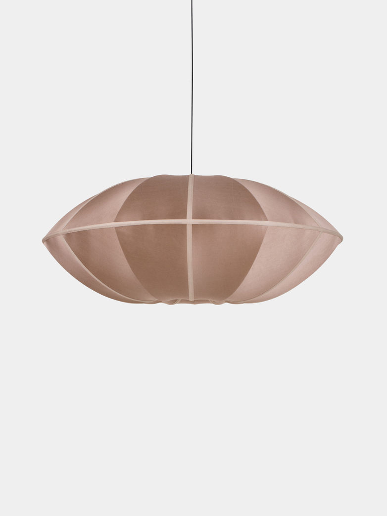 Bali Ufo Silk Lamp - Rosebrown