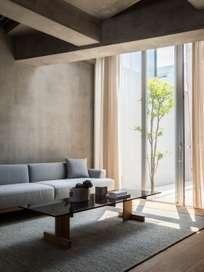 A-CT01 Sofa Table - Oak/Glass