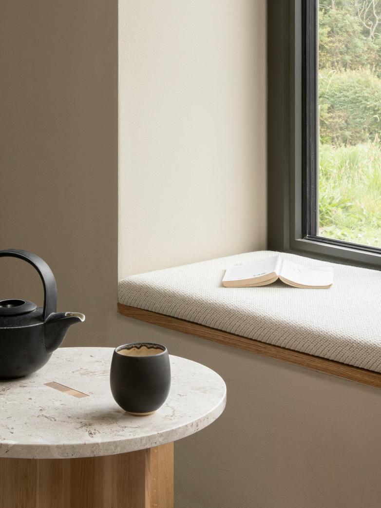 N-ST01 Side Table - Oak/Marble