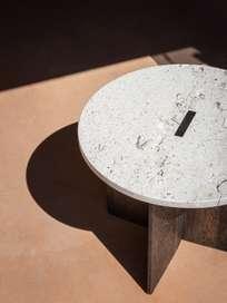 N-ST01 Side Table - Smoked Oak/Marble