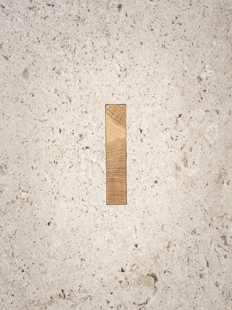 N-ST01 Sofa Table - Oak/Marble