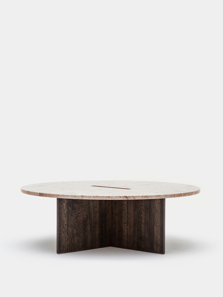 N-ST01 Sofa Table - Smoked Oak/Marble