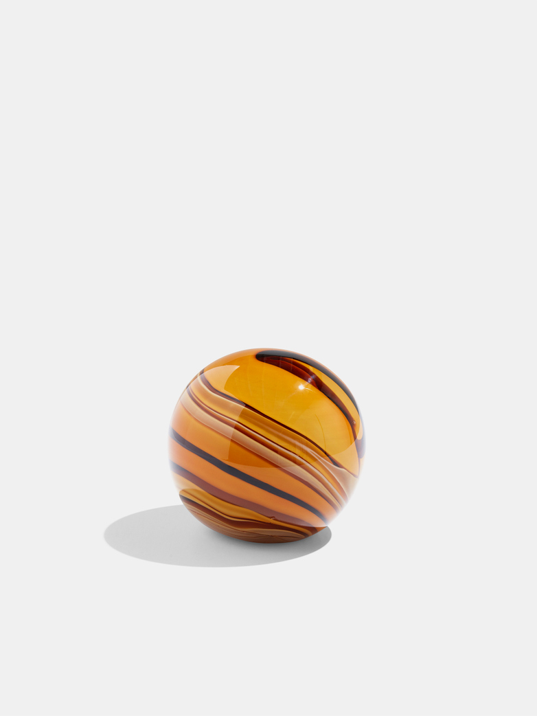 Glass Paperweight Amber