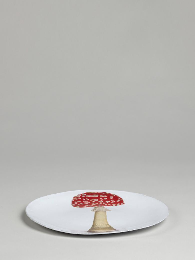 John Derian Agaric Fausse Oronge Dinner Plate