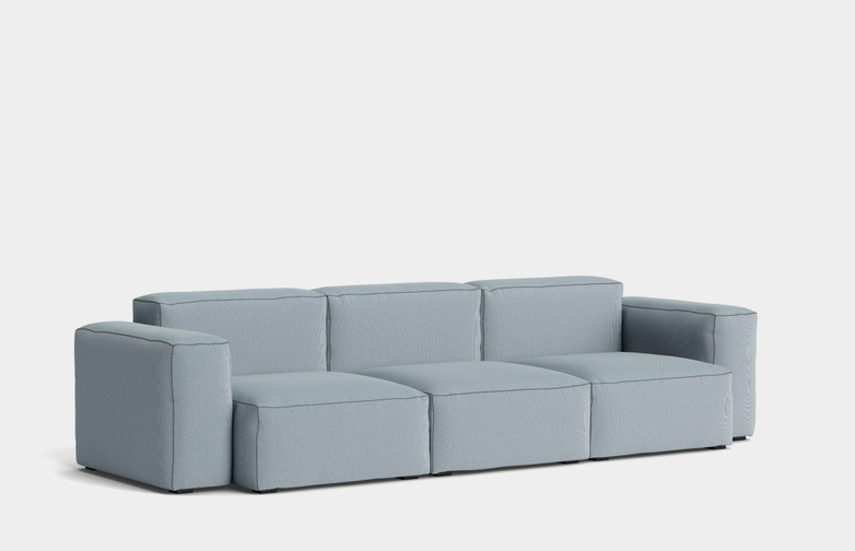 Mags Soft Low - 3 Seater Combination 1 - Steelcut Trio 713