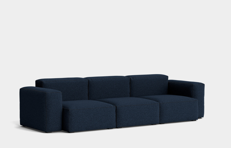 Mags Soft Low - 3 Seater Combination 1 - Flamiber Dark Blue