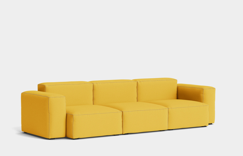 Mags Soft Low - 3 Seater Combination 1 - Steelcut Trio 446