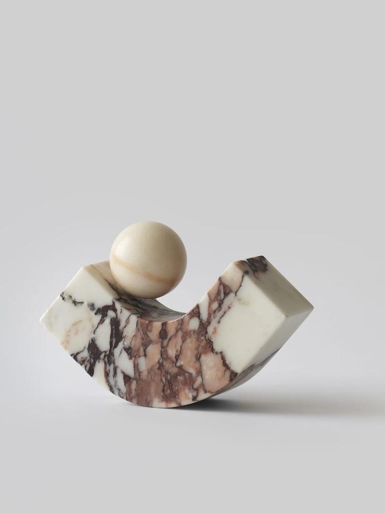 Equi Bookend - Calacatta Viola Marble