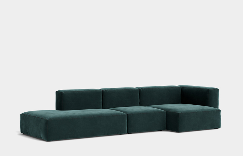 Mags Soft - 3 Seater Combination 3 Right Armrest - Lola Dark Green